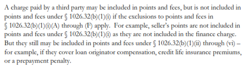 CFPB legalese regarding qualified points and fees