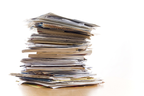 Big Stack of Mortgage Paperwork