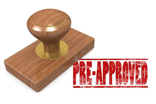 Rubber Stamp Showing Pre-Approved