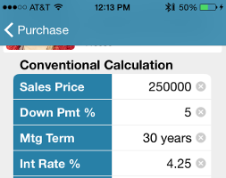 Mortgage Calculator Smart Phone App